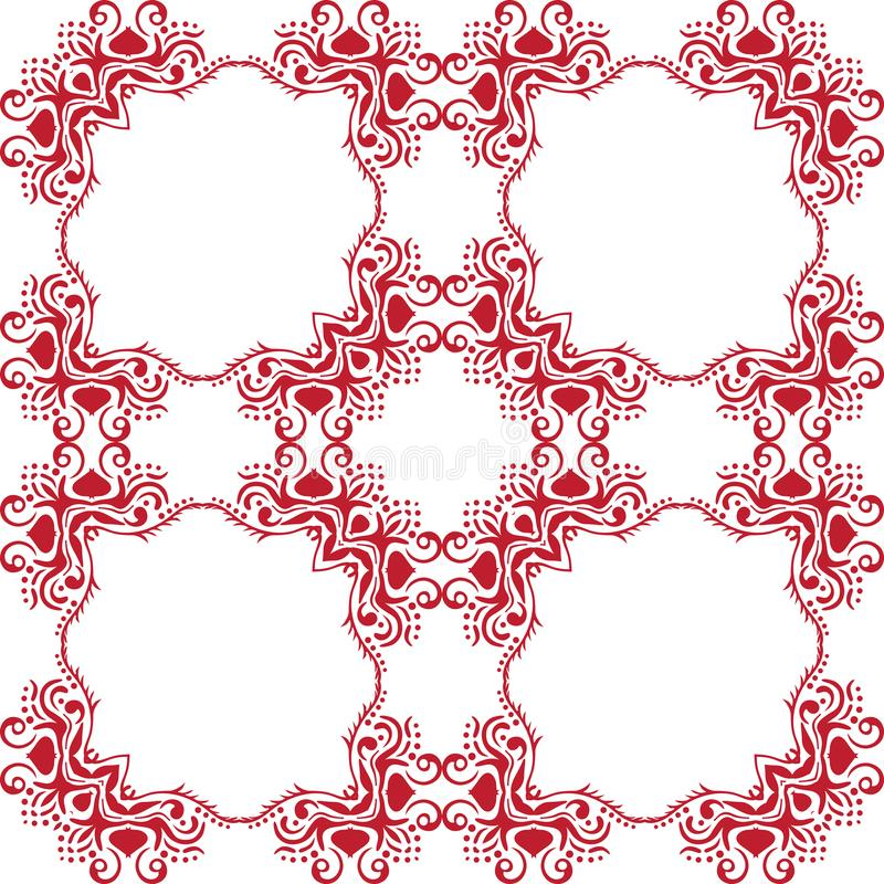 Modelo floral abstracto inconsútil Fondo blanco del vector Ornamento geométrico de la hoja Modelo moderno gráfico stock de ilustración