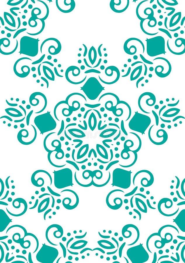 Modelo floral abstracto inconsútil Fondo blanco del vector Ornamento geométrico de la hoja Modelo moderno gráfico libre illustration