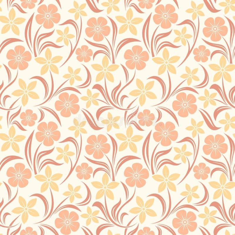 Modelo floral anaranjado inconsútil Ilustración del vector ilustración del vector