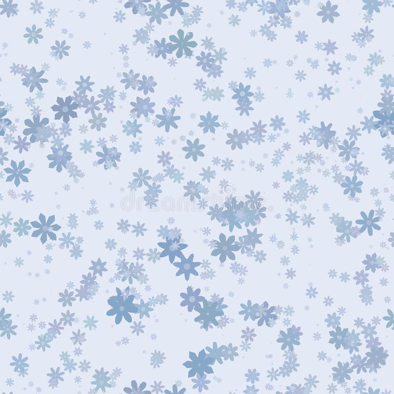 Modelo floral azul abstracto Vector la ilustración inconsútil ilustración del vector