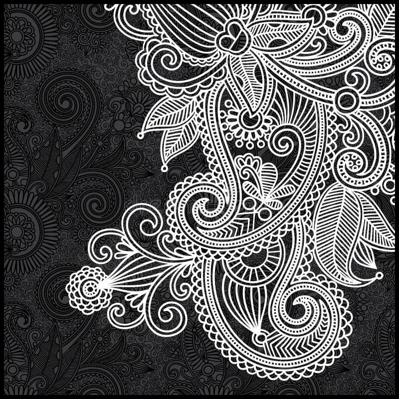 Modelo floral blanco y negro stock de ilustración