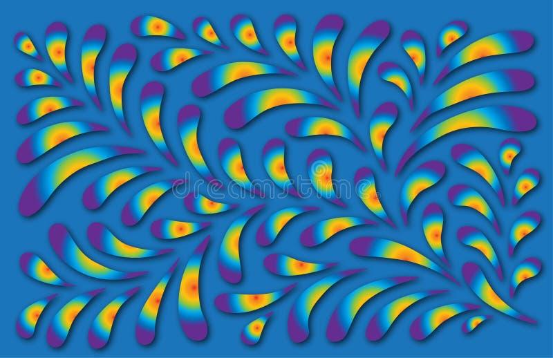 Modelo floral colorido ilustración del vector