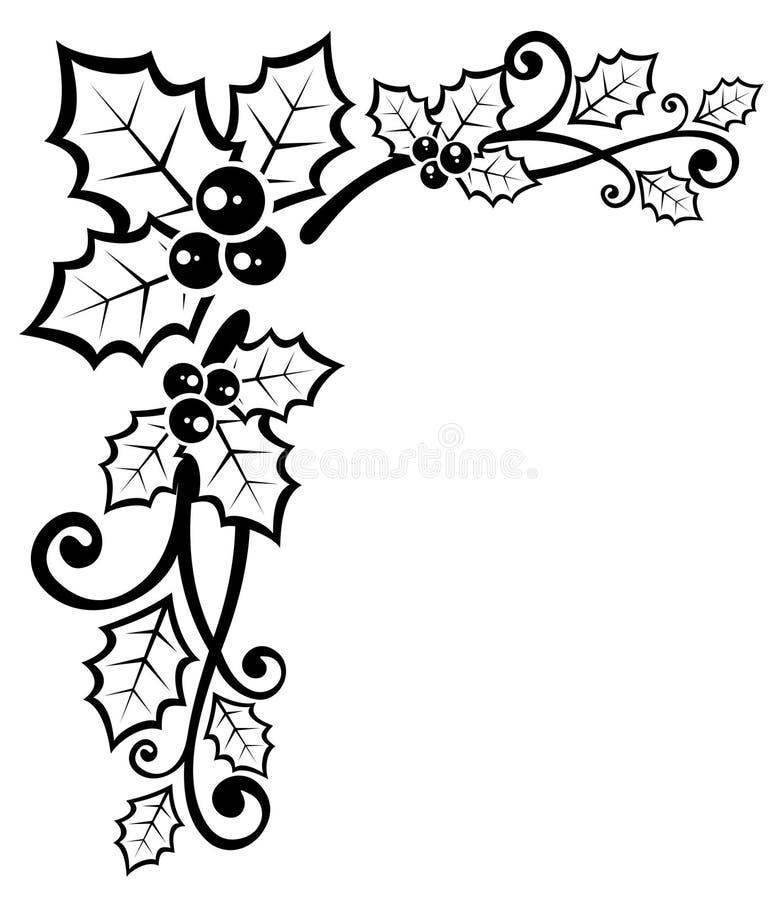 Modelo floral de la Navidad stock de ilustración