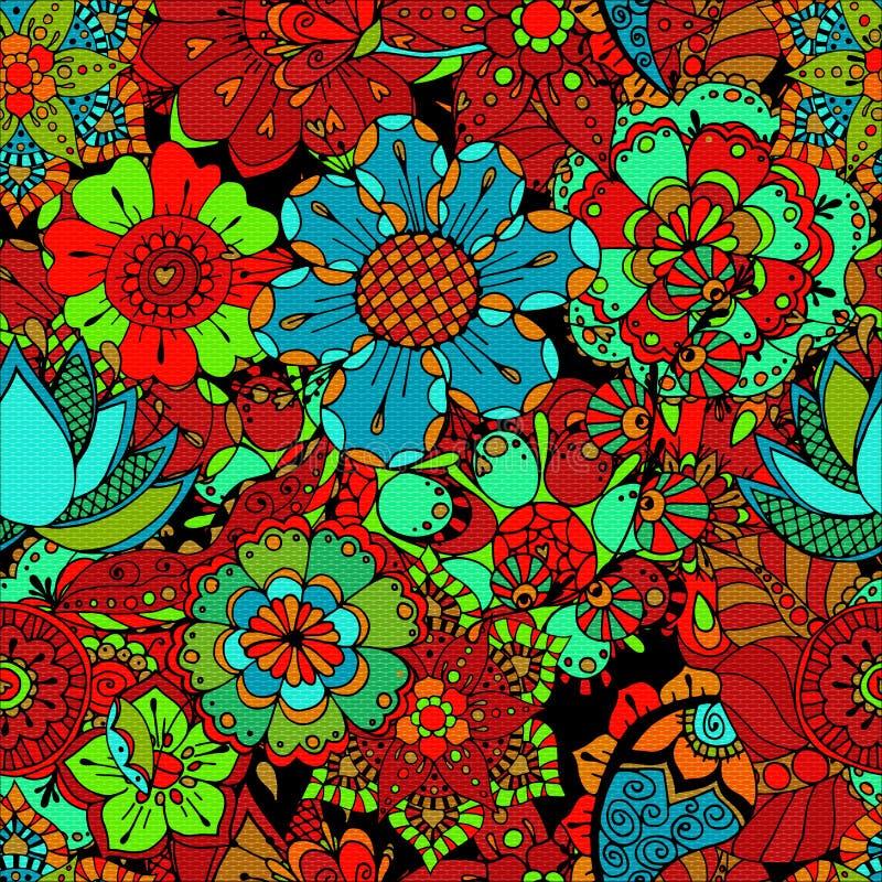 Modelo floral de la vendimia ilustración del vector