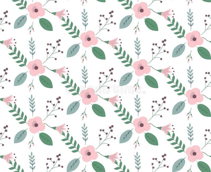 Modelo floral de la vendimia libre illustration