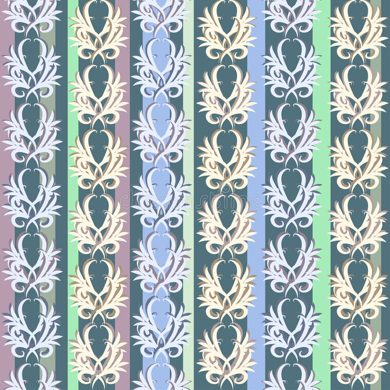 Modelo floral de la vendimia inconsútil del vector stock de ilustración