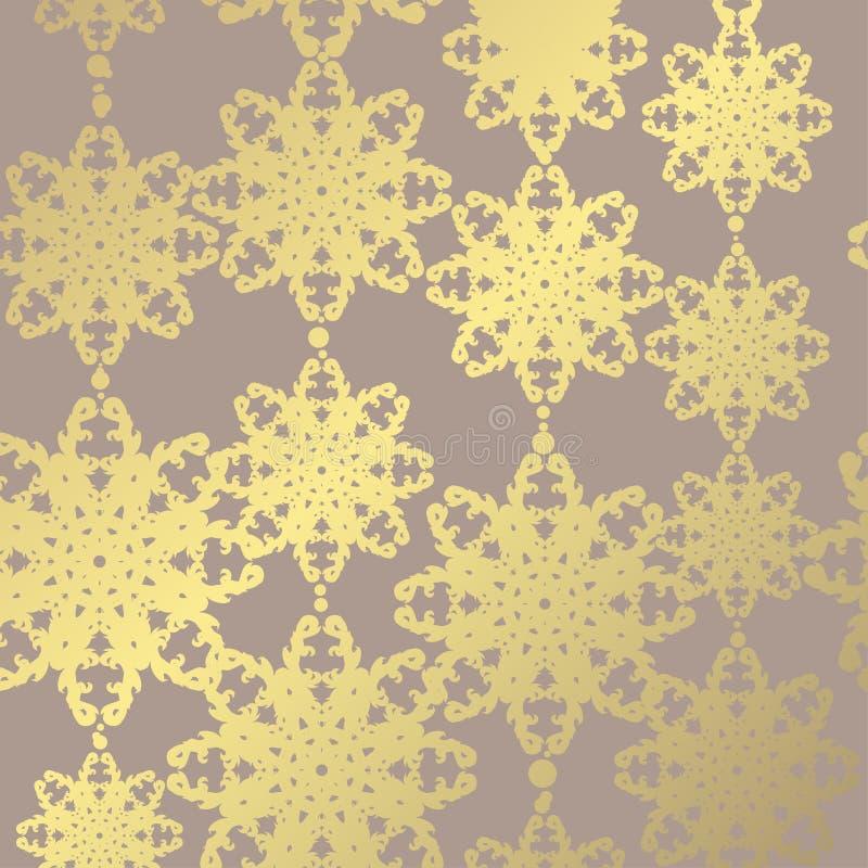 Modelo floral de oro ilustración del vector