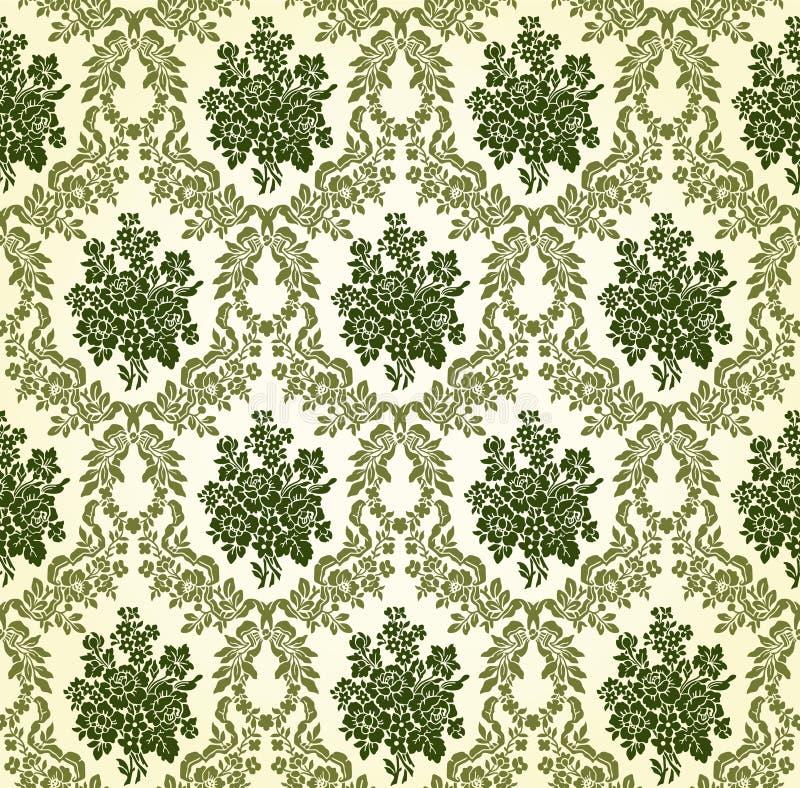 Modelo floral del damasco del vintage del vector ilustración del vector