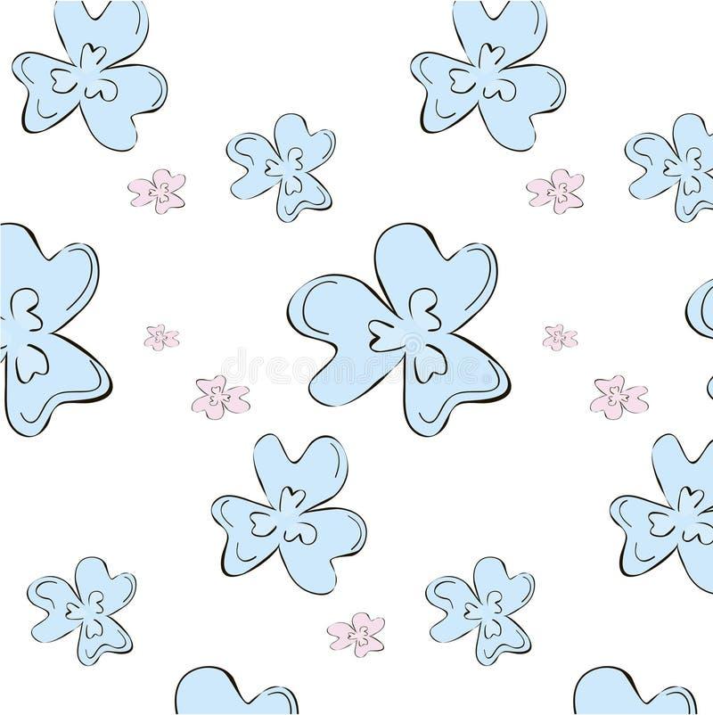 Modelo floral del flor stock de ilustración