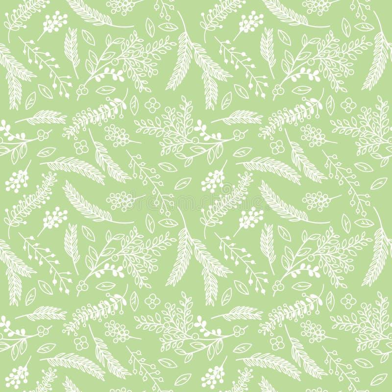Modelo floral del fondo del vintage inconsútil de Tileable ilustración del vector