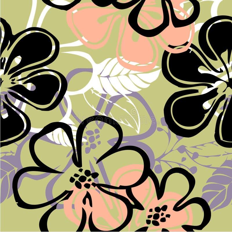 Modelo floral del gráfico del gráfico del arte libre illustration