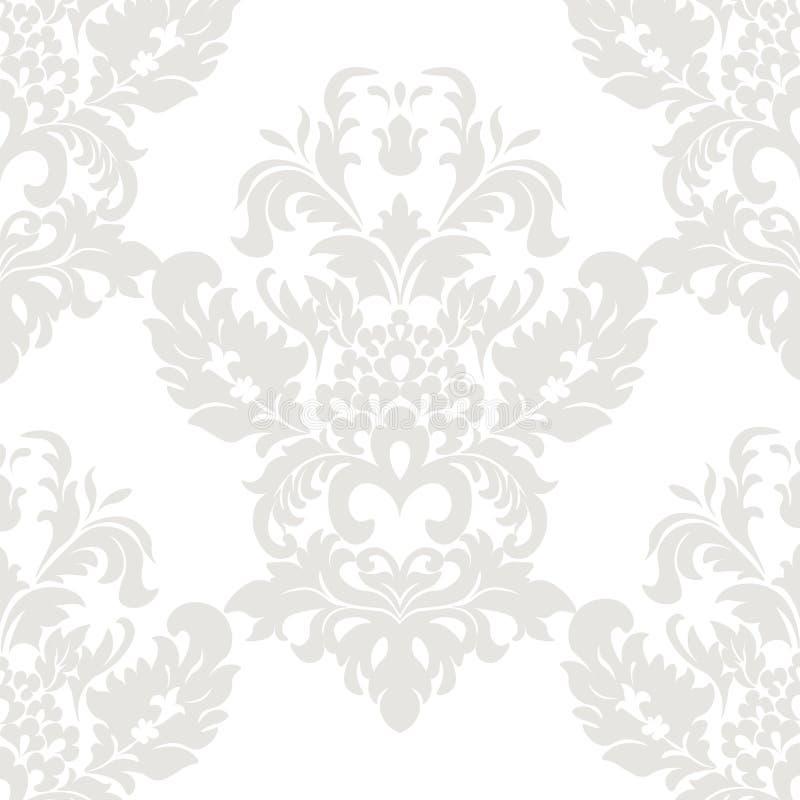 Modelo floral del ornamento del damasco del vector ilustración del vector