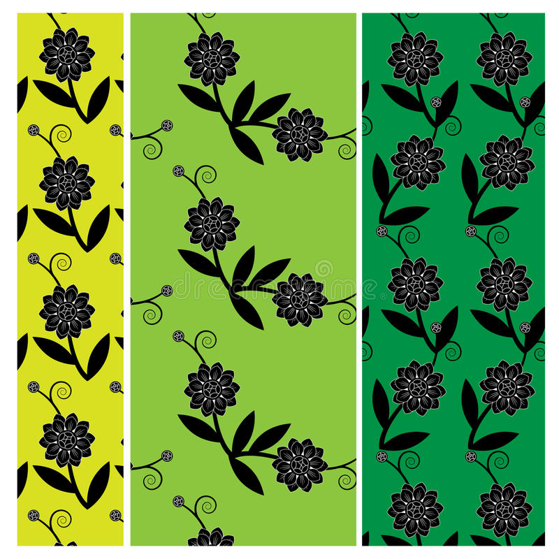 Modelo floral del vector stock de ilustración