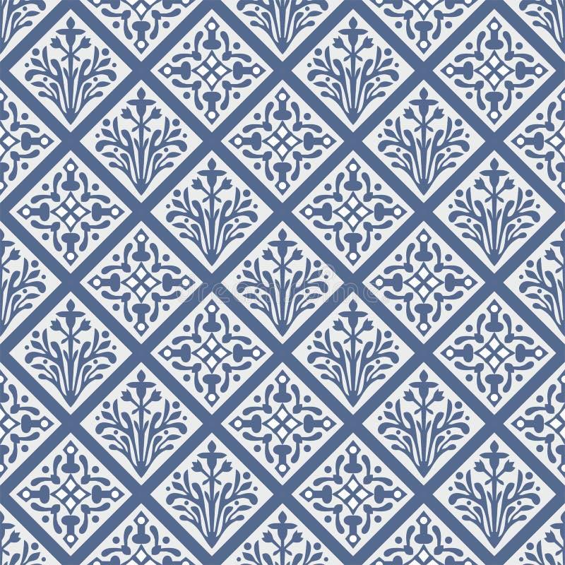 Modelo floral del vector gótico colorido inconsútil ilustración del vector