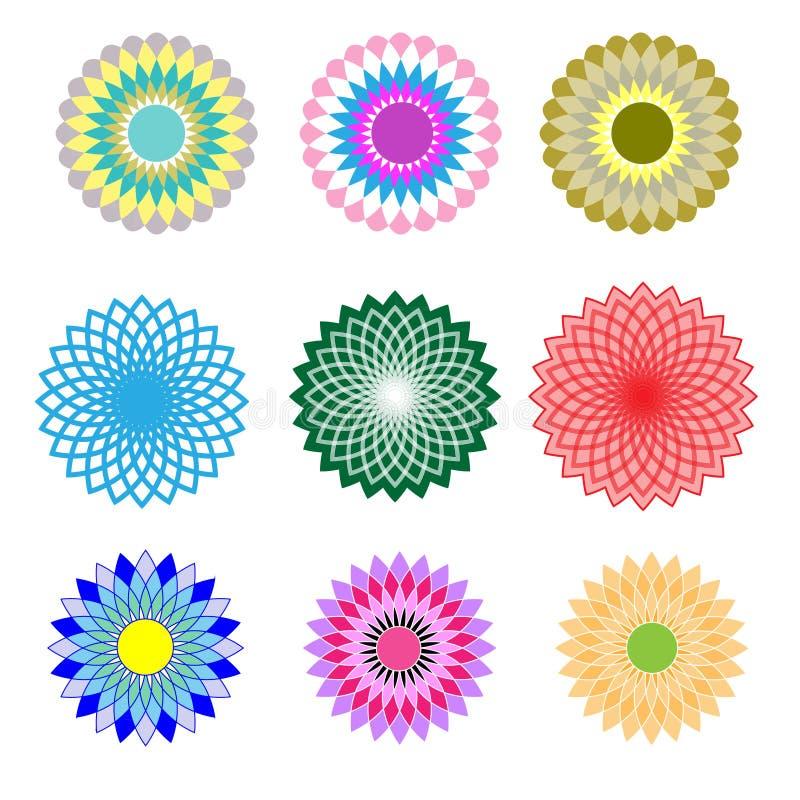 Modelo floral determinado ilustración del vector