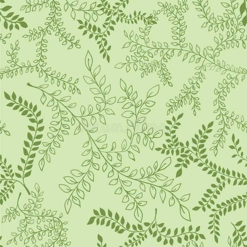 Modelo floral El verde deja el ejemplo del esquema stock de ilustración