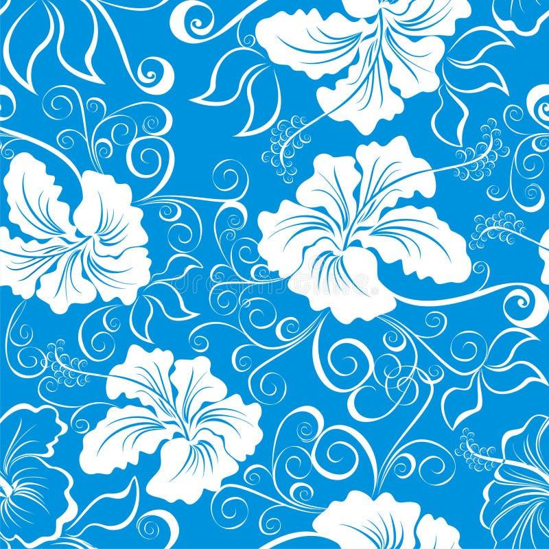 Modelo floral hawaiano inconsútil stock de ilustración