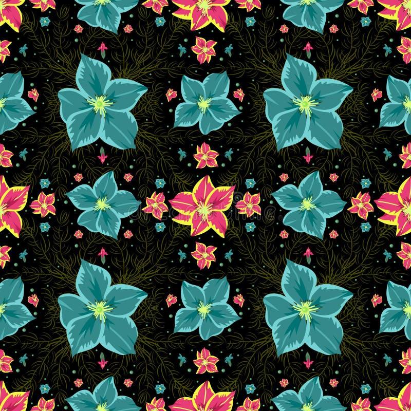 Download Modelo floral inconsútil ilustración del vector. Ilustración de verde - 44855302