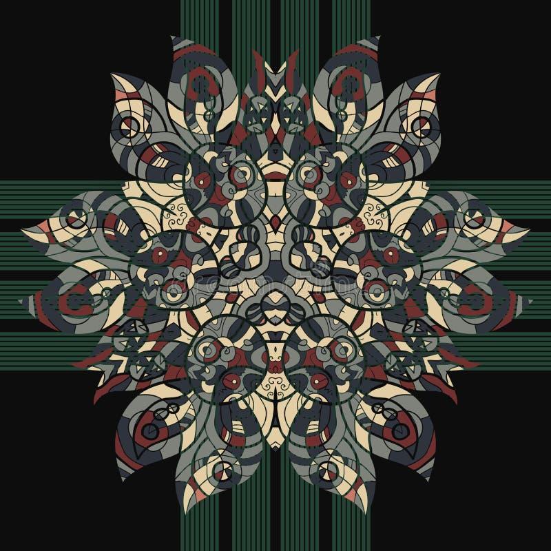 Modelo floral inconsútil de Oriente en colores en colores pastel. stock de ilustración