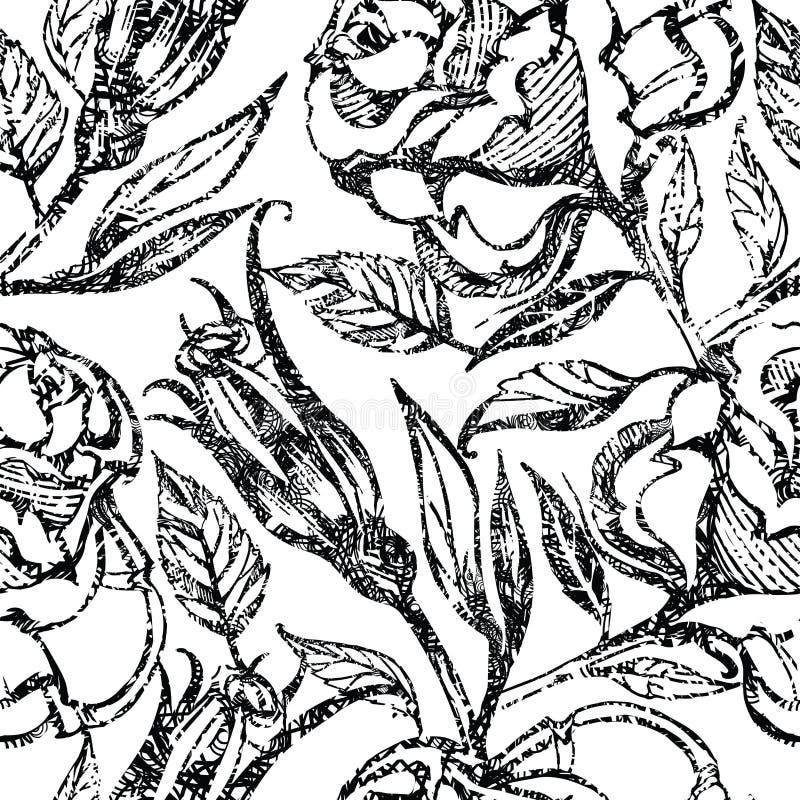 Modelo floral inconsútil del vector libre illustration