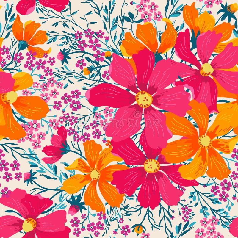Modelo floral inconsútil del vector ilustración del vector
