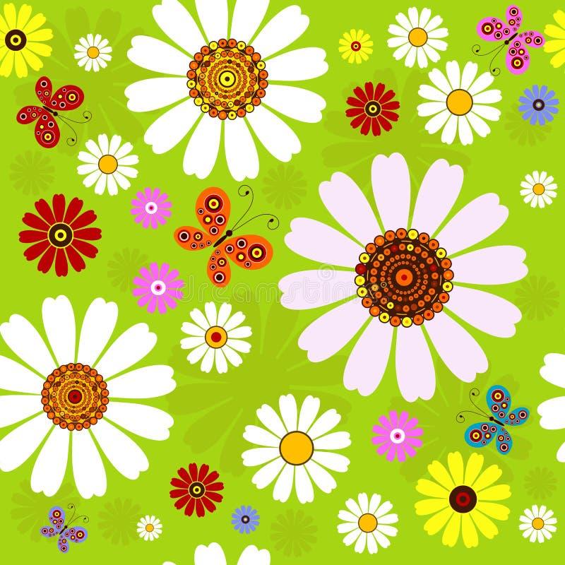 Modelo floral inconsútil del verano ilustración del vector