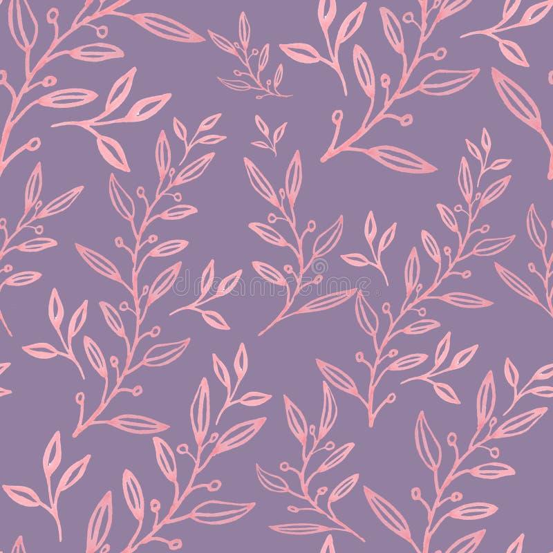 Modelo floral incons?til con las hojas libre illustration