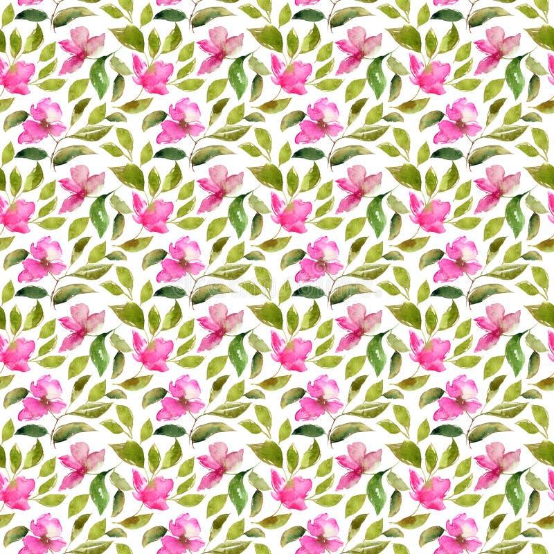 Modelo floral incons?til El color de rosa florece el fondo incons?til Modelo floral de la materia textil Casarse dise?o floral libre illustration