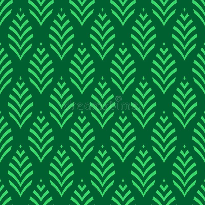 Modelo floral incons?til Textura geométrica hecha de hojas rayadas Ilustraci?n de color del vector stock de ilustración