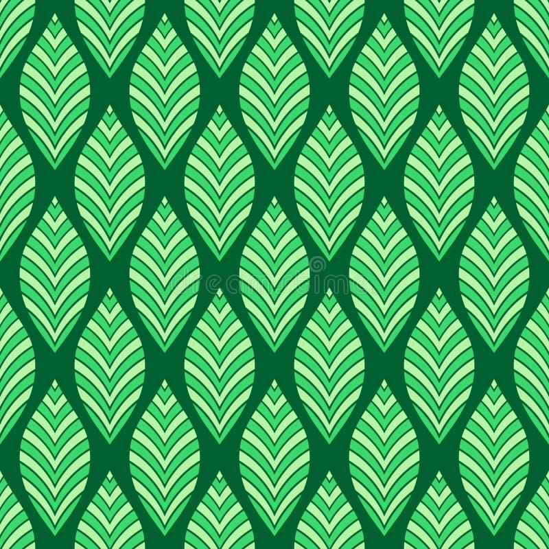 Modelo floral incons?til Textura geométrica hecha de hojas rayadas Ilustraci?n de color del vector libre illustration
