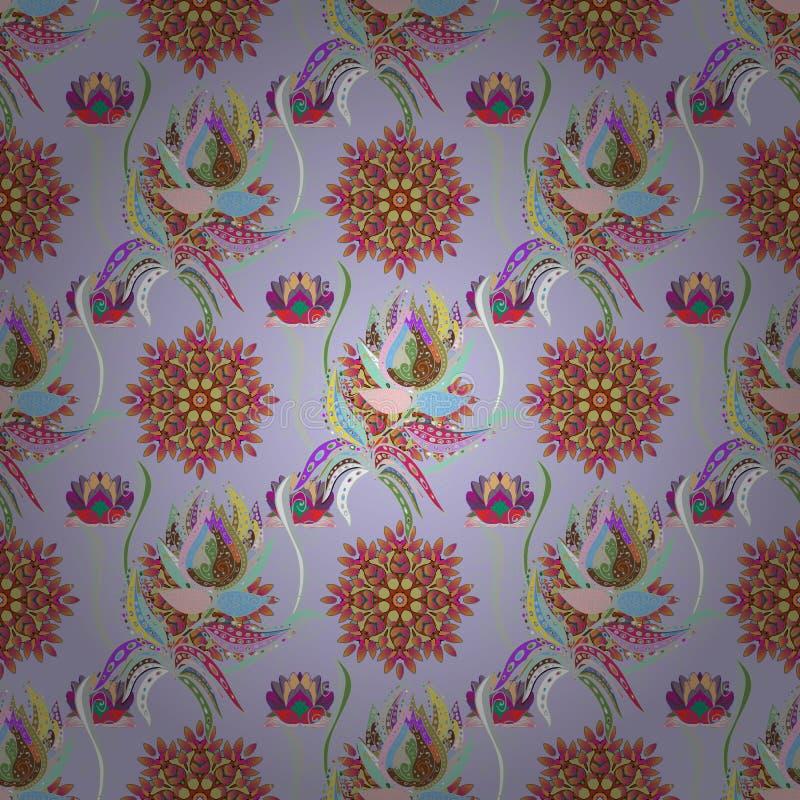 Modelo floral indio del medall?n de Paisley stock de ilustración