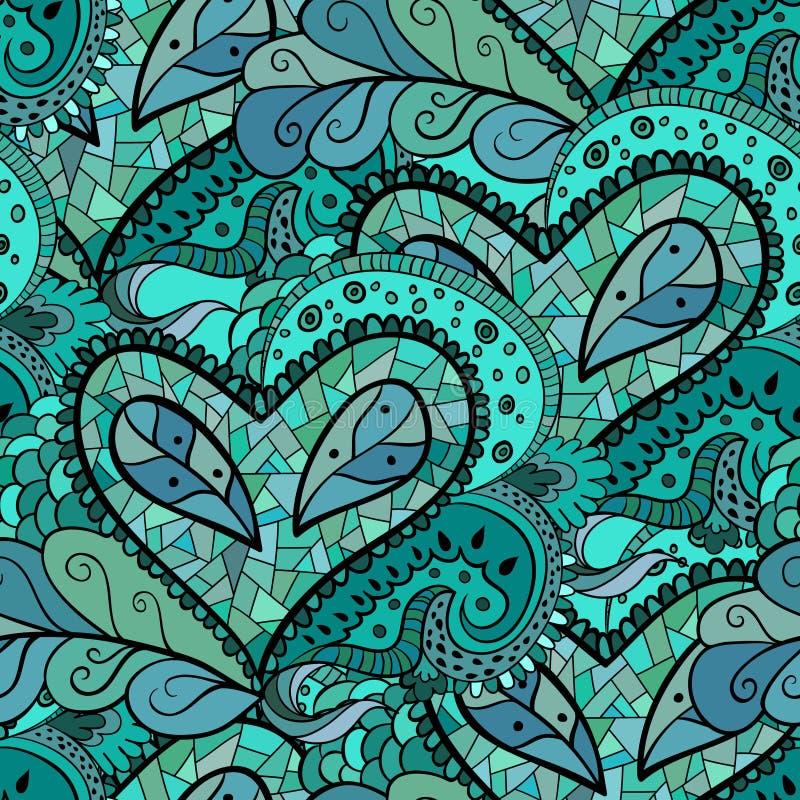Download Modelo Floral A Mano Abstracto Inconsútil Ilustración del Vector - Ilustración de doodle, deco: 41909296