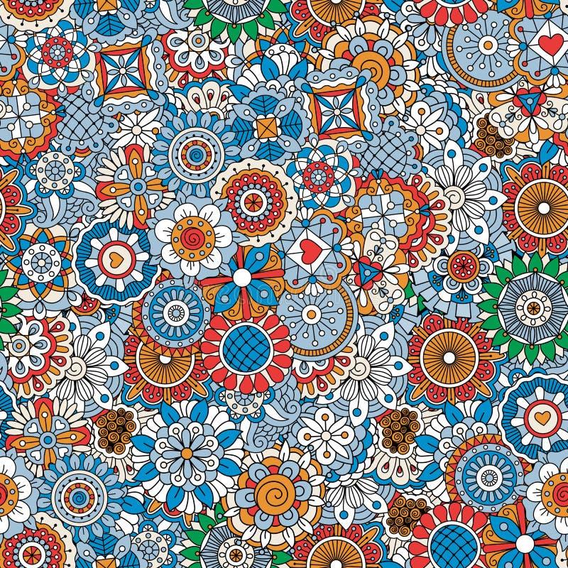 Modelo floral ornamental stock de ilustración