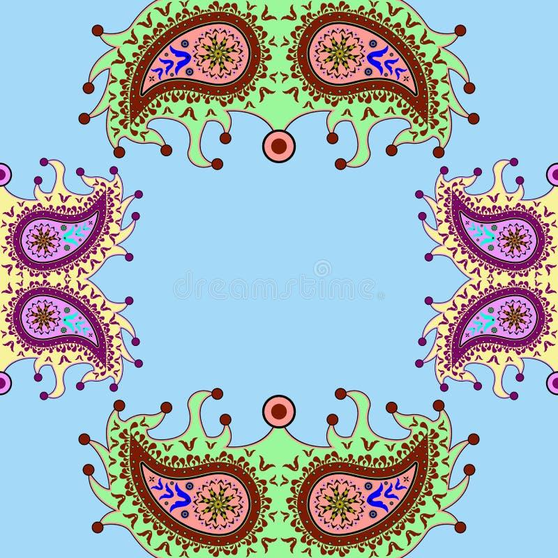 Modelo floral ornamental de Paisley libre illustration