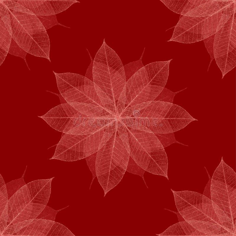 Modelo floral rojo de la Navidad stock de ilustración