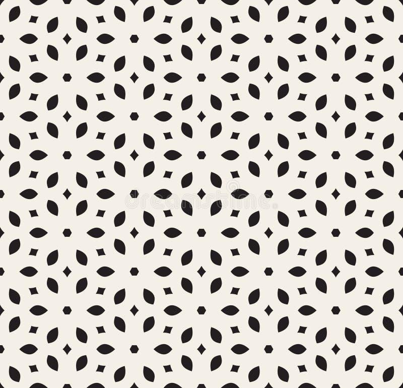 Modelo floral simple geométrico blanco inconsútil del pétalo del vector libre illustration