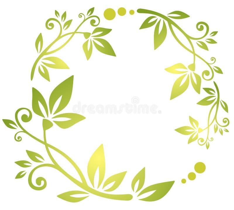 Download Modelo floral verde ilustración del vector. Ilustración de planta - 7282882