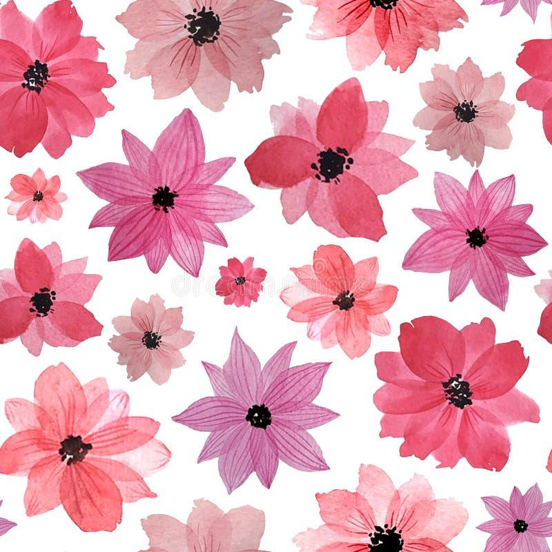 Modelo Flores de la acuarela ilustración del vector