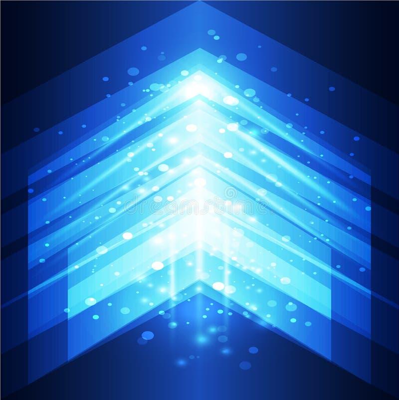 Modelo futurista Fondo del vector de Technlogy Fondo abstracto del vector stock de ilustración