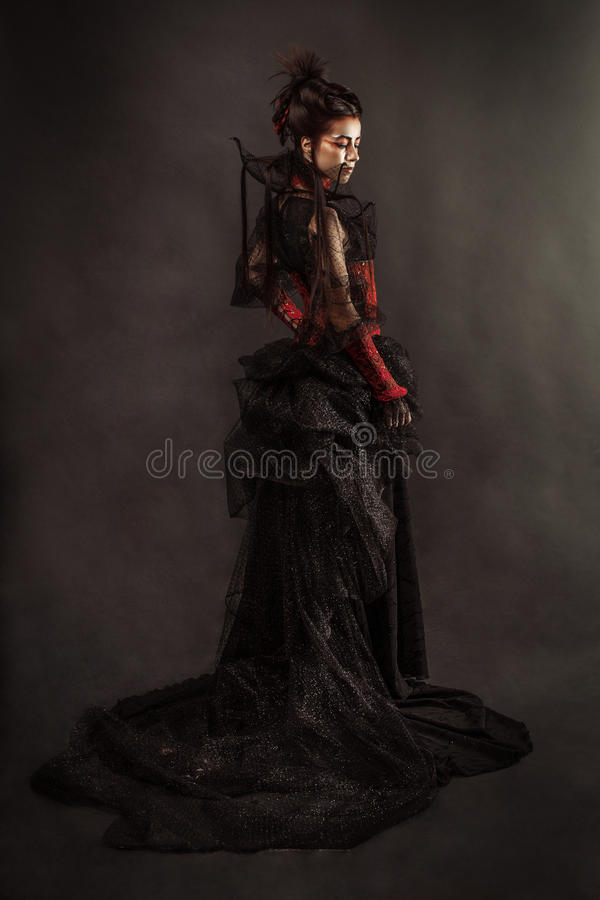 Modelo gótico Girl Portrait del estilo foto de archivo