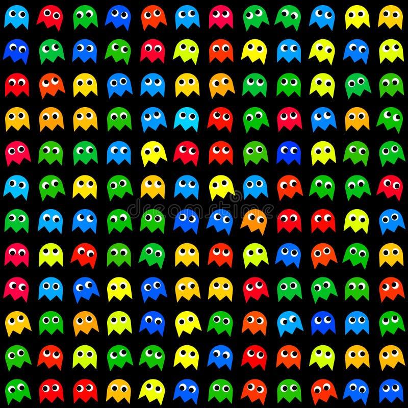 Modelo generado inconsútil de los monstruos del juego ilustración del vector