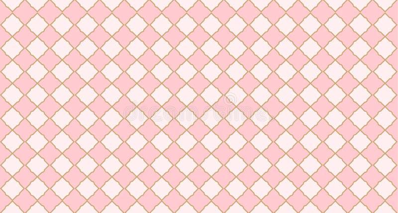 Modelo geométrico árabe inconsútil Puede ser el uso para el contexto real del partido fiesta de bienvenida al bebé de la muchacha ilustración del vector