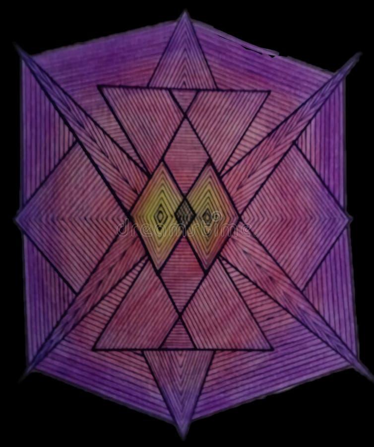 Modelo geométrico fotografía de archivo