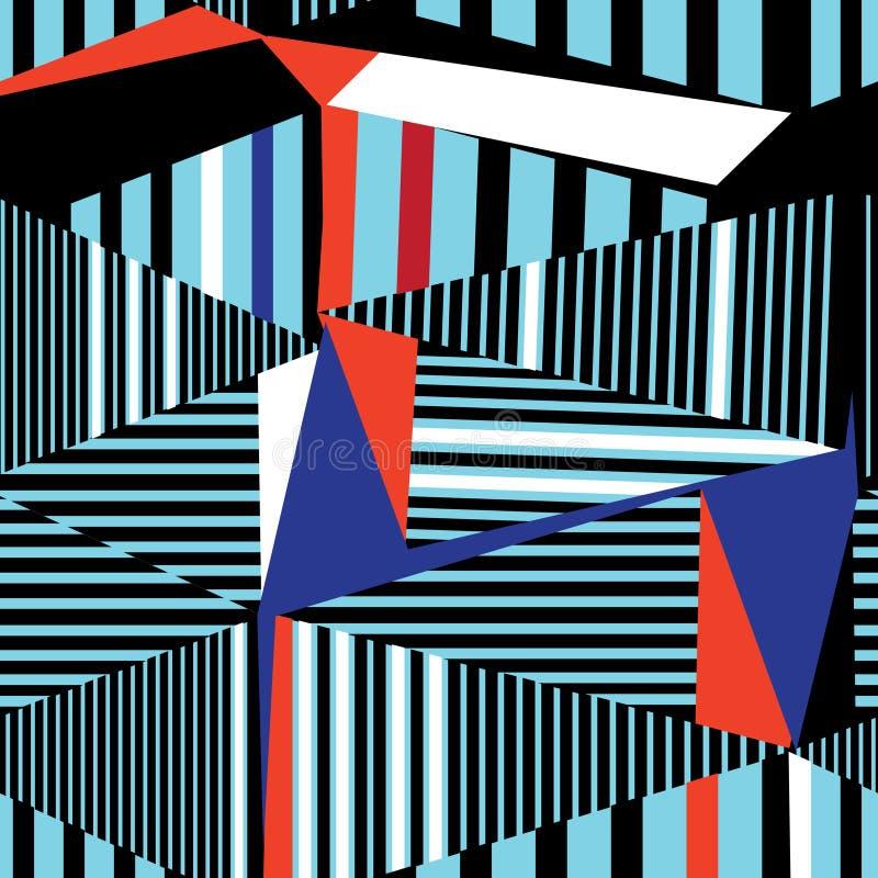 Modelo geométrico abstracto stock de ilustración