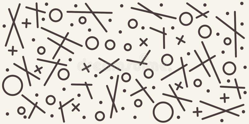 Modelo geométrico abstracto con diversas formas resumidas Fondo inconsútil del vector stock de ilustración