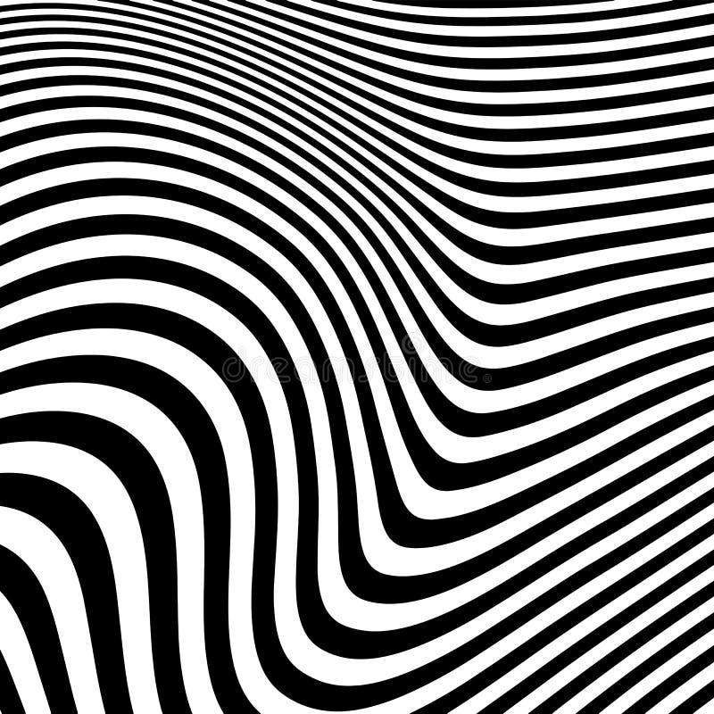 Modelo geométrico abstracto con efecto visual de la distorsión stock de ilustración