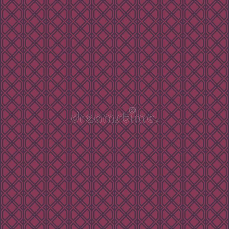 Modelo geométrico abstracto con las líneas Un fondo inconsútil Modelo moderno gráfico en estilo oscuro y violado claro del color ilustración del vector