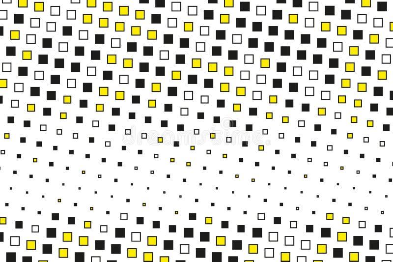 Modelo geométrico abstracto con los pequeños cuadrados Diseñe los forposters del elemento, tarjetas, papeles pintados, contextos, stock de ilustración