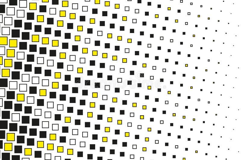 Modelo geométrico abstracto con los pequeños cuadrados Diseñe los forposters del elemento, tarjetas, papeles pintados, contextos, ilustración del vector