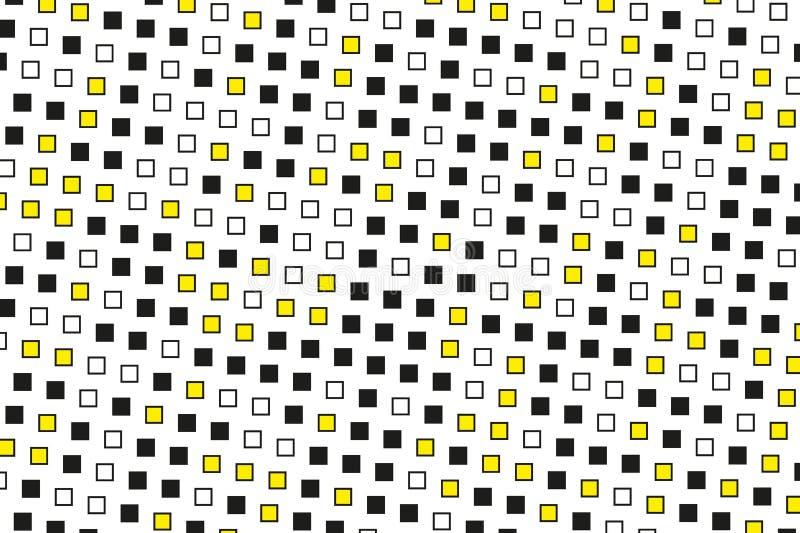 Modelo geométrico abstracto con los pequeños cuadrados Diseñe los forposters del elemento, tarjetas, papeles pintados, contextos, libre illustration